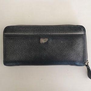DVF Zip Around Leather Wallet